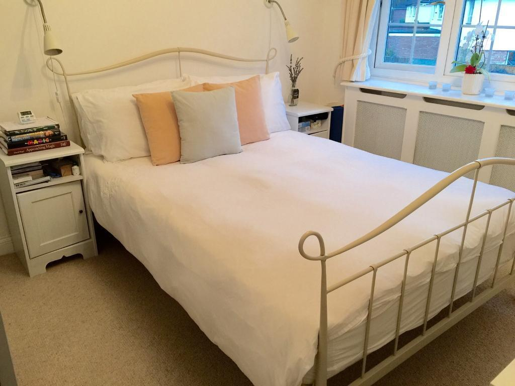 Clean double bedroom shared with family