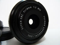 Fujifilm Fuji Fujinon XF 18mm F2 Lens - Excellent Condition Like Mint