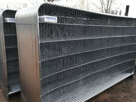 Roundtop heras fencing panels, security fence