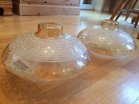 Vintage glass lampshades