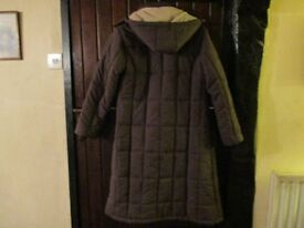 Ladies cotton traders padded long coat