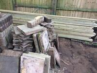 Slabs and edgings free to collect