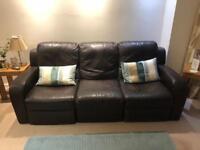 Brown Leather Natuzzi Sofa