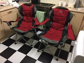 Large folding camping chairs