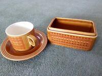66 pieces of crockery various, plates bowls teapot see list for details. Saffron