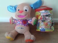 YOUNG CHILDS TOYS, A TALKING DOG & A FOAM PUZZLE, VGC