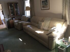 Four seater settee and arm chair
