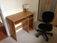 Desk, swivel chair and lamp for sale-ideal for a student!