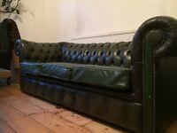Stunning Victorian green 3 seat chesterfield sofa