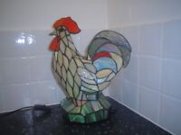 TIFFANY ROOSTER LAMP