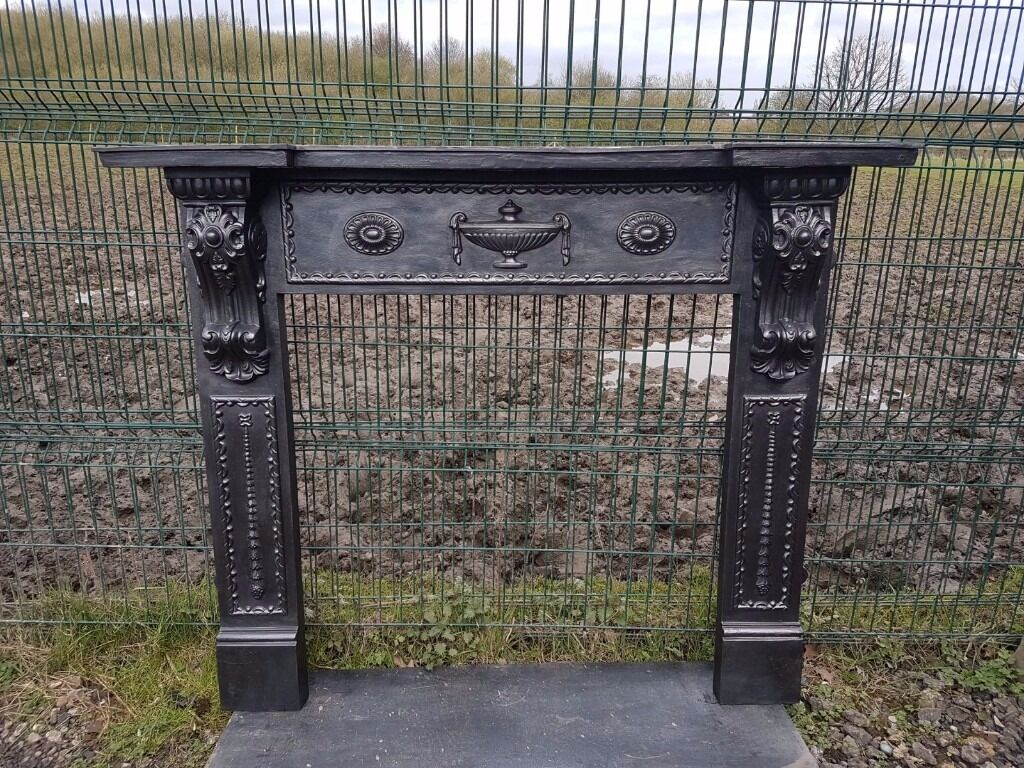 122 cast iron fireplace surround victorian stove log burner