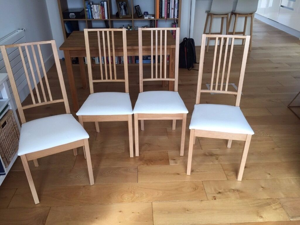 ikea ekensberg oak table and matching 4 ikea borje chairs in brentford london gumtree. Black Bedroom Furniture Sets. Home Design Ideas
