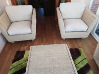 Four piece conservatory chairs/tables high quality and in excellent condition