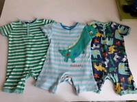 3 boys 2-3 years summer playsuits