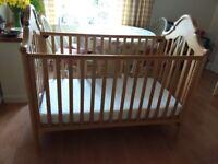Mamas & Papas Baby Cot with mattress