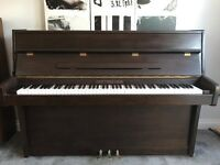 ***CAN DELIVER*** small MODERN UPRIGHT PIANO IN DARK MAHOGANY ***CAN DELIVER***
