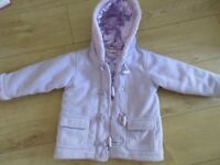 PURPLE DUFFLE COAT age 3-4 PERFECT CONDITION lined /zip/toggles - BARGAIN SO CHEAP!