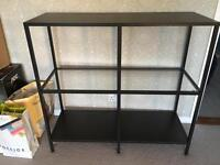 Shelving Unit - dark brown / black (6 months old) - Muston go today!