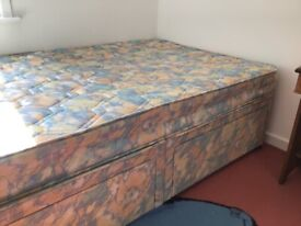 4 drawer 3/4 divan bed well used but very clean
