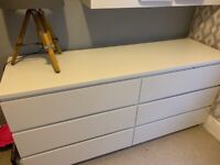 Ikea malm white chest of 6 drawers