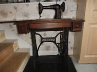 Pre War Singer model 66 treadle sewing machine c.1926 in working order. Needs a good home.