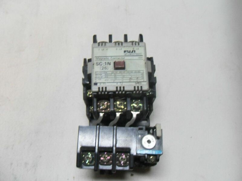 (M6-2) 1 FUJI ELECTRIC SC-1N 26 MAGNETIC CONTACTOR WITH TR-2N THERMAL RELAY