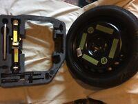 Audi A4 Continental T125/70 R19 100 M tubeless spare wheel & breakdown kit