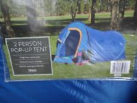 Tent pop up 2 person tent used only once for 5 days so still in great condition