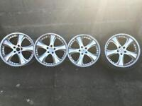 Nice r19 size alloys for sale Kahn 2 piece not fake like most on the market