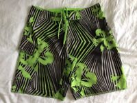 Mens Protest Board Shorts - medium size. Excellent condition. Green/black colour.