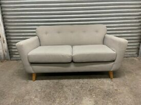 FREE DELIVERY GREY FABRIC 2 SEATER SOFA GOOD CONDITION