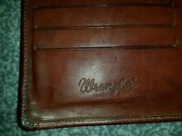 Wrangler leather tan mens wallet