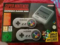 New and sealed Super Nintendo classic mini