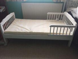 ARGOS TODDLER BED + mattress