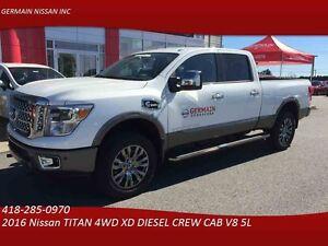 2016 Nissan TITAN 4WD XD DIESEL CREW CAB Platinum DIESEL  ***850