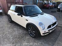 2003 MINI COOPER AUTO LEATHERS COOPER S ALLOYS LOOKS WHITE TOP SPEC DRIVE AWAY CLEAN HPI CLEAR T&T