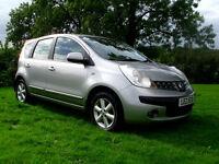 2007 Nissan Note 1.4SE, 5dr, silver, alloys, not fiesta corsa 207 c3 micra clio c max scenic