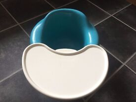 Aqua Bumbo Seat with Tray - very good condition