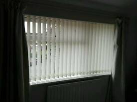 Vertical blinds 174cm wide x 98cm drop