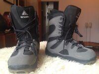 Air Walk Grey and Black Snowboard Boots