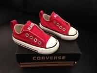 Red Toddler Converse size 4