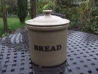 Stoneware Bread Crock Bin