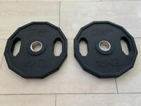 2 x 15KG MIRAFIT OLYMPIC WEIGHT PLATES