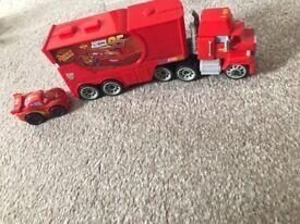 Car Mack truck