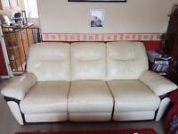 Leather 3 piece sofa