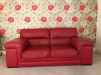 Sisi Italia Kattan Ferrari Red 2 seater leather sofa