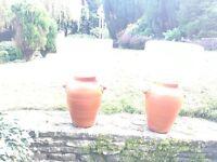 Harrods terracotta lamp bases