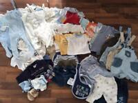 Large newborn boys clothes bundle