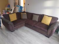 DFS corner sofa and matching chair