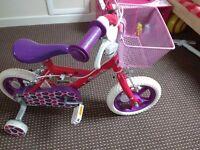 Girl bike used once with basket